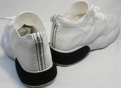 Белые кроссовки на большой подошве женские El Passo KY-5 White.