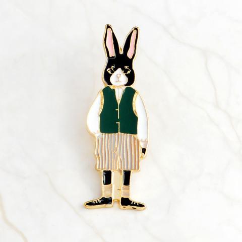 Значок, пін - Вінтажний Кролик