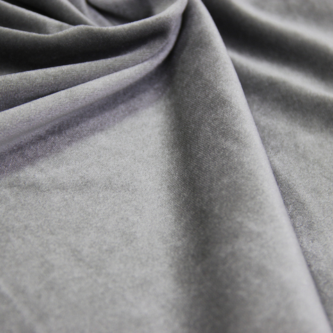 Бархат негорючий серый, ширина - 150 см., 450 гр./м2. арт. BR/7VN/45