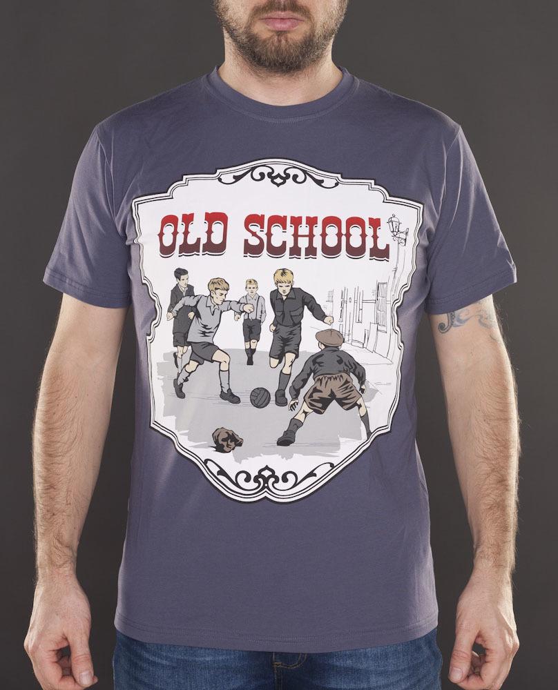 Футболка Old school серая