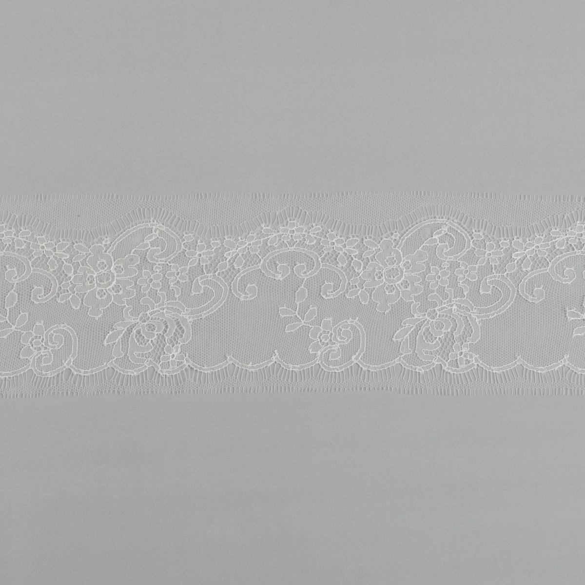"Ажурное кружево ""Шантильи"" от Sophie Hallette цвета экрю"