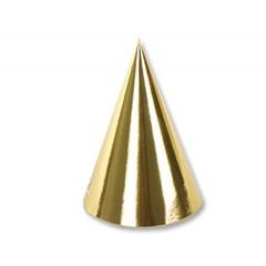 Колпак фольгированный Золото, 6 шт.