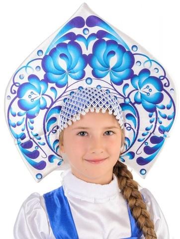 Русский народный костюм Гжель девочка 3