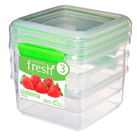 """Набор пищевых контейнеров  Sistema """"Fresh"""" 1,2л, 3шт."""