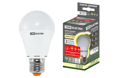 Лампа светодиодная А60 - 10 Вт-230 В -3000 К–E27