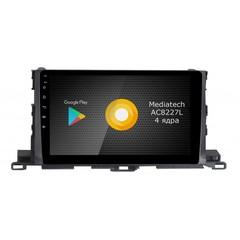 Штатная магнитола на Android 8.1 для Toyota Highlander 3 Roximo S10 RS-1112