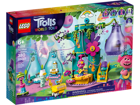 LEGO Trolls: Праздник в Поп-сити 41255 — Pop Village Celebration — Лего Троллз Тролли
