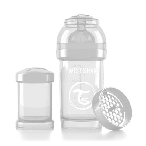 Twistshake бутылочка антиколиковая 180 мл. Белая (Diamond)