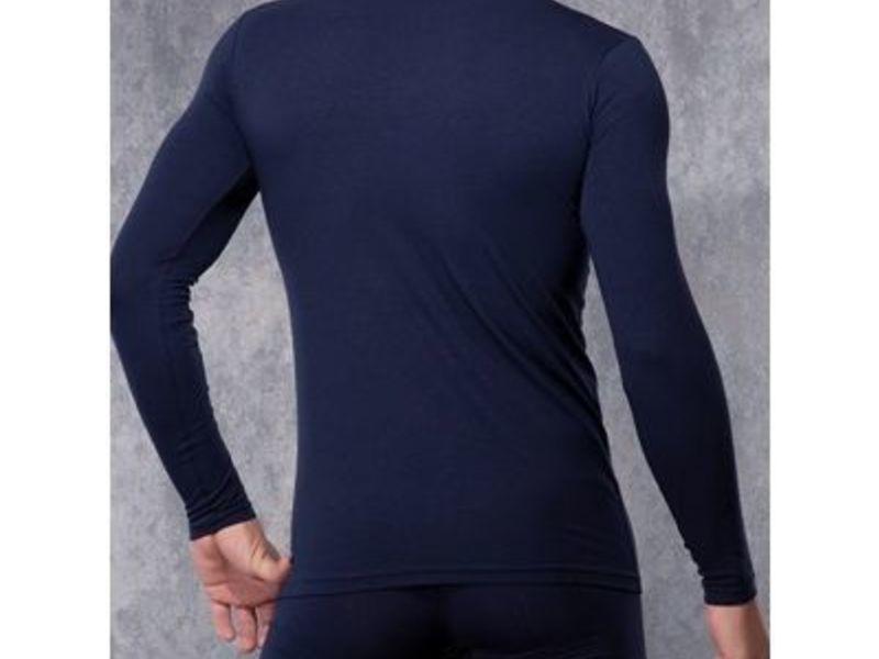 Мужская футболка с длинным рукавом темно-синяя Doreanse 2930