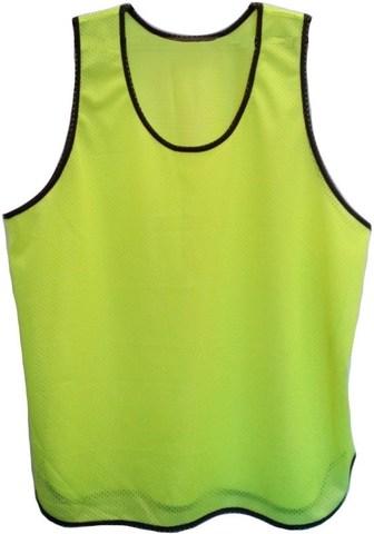 Манишка футбольная сетка. Цвет: лимонный