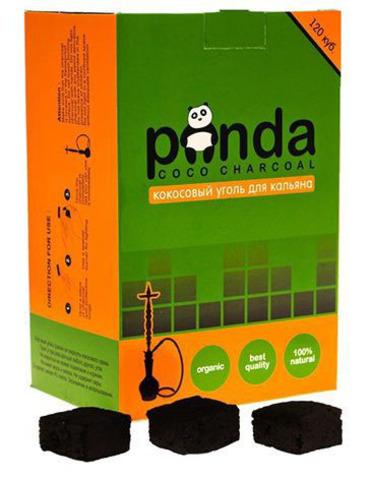 Кокосовый уголь Panda зелёная 120 кубиков