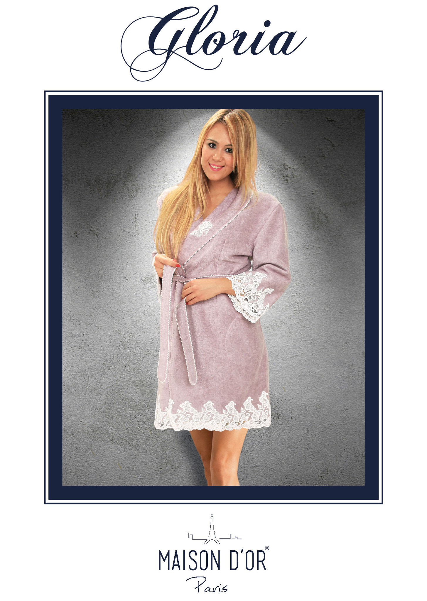 Махровые халаты GLORIA ГЛОРИЯ женский бамбуковый халат Maison Dor Турция Gloria_Bornoz-K.jpg