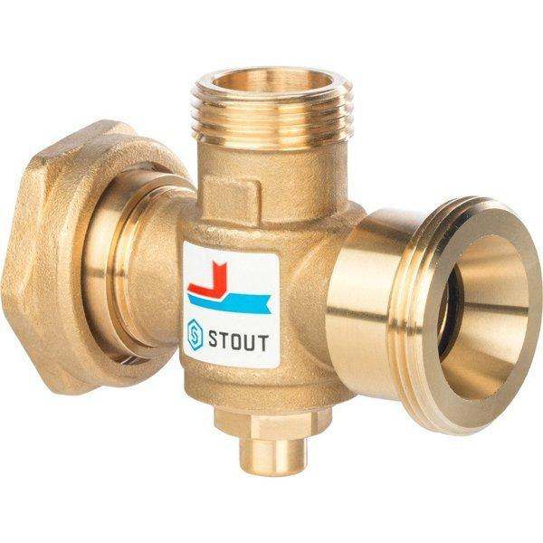 Клапан термосмесительный для котлов отопления STOUT 60*С, G1-1/2