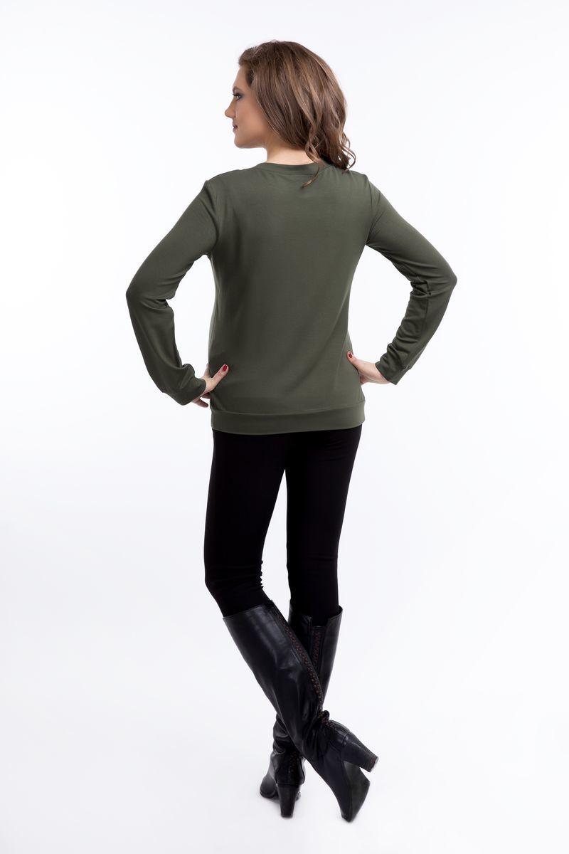 Свитшот для беременных 09144 зеленый