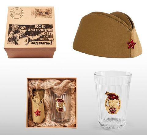 Подарочный набор с пилоткой «Посылка на фронт»