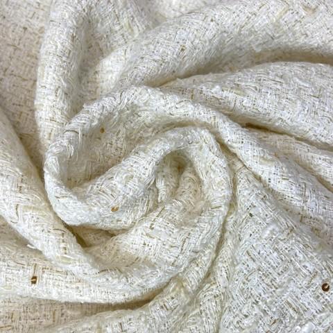 Ткань твид цвет молочный 3088