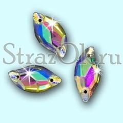 Стразы пришивные стеклянные Leaf Crystal AB, Листок Кристал АБ для художественной гимнастики на StrazOK.ru