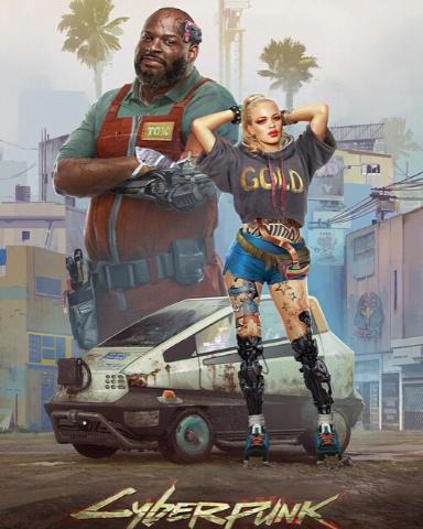 Плакат игровой Cyberpunk 2077 (А1)