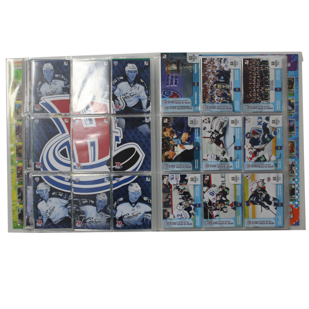 Спортивные карточки. Хоккей. Полный базовый сет 504 шт. + Подсерии 391 шт. SeReal Карточки КХЛ 2013-2014.