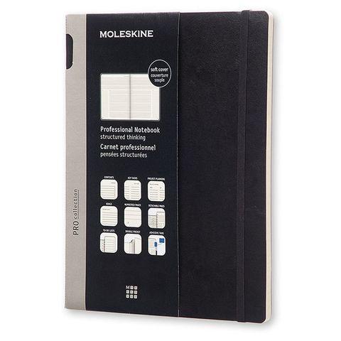 Блокнот Moleskine PROFESSIONAL SOFT PROPFNT4SBK XLarge 190х250мм 192стр. мягкая обложка черный
