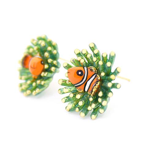 Серьги Рыба Клоун