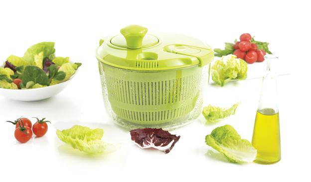 Сушка 20.6 см Mastrad малая для салатных листьев, цвет зеленый, в подарочной упаковке