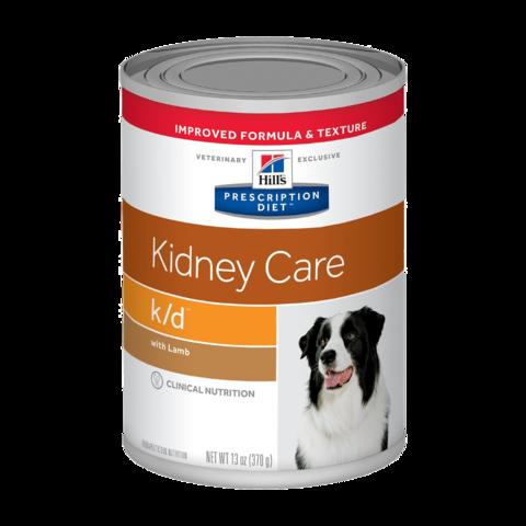 Hill's Prescription Diet K/D Консервы для собак при заболеваниях почек, МКБ (оксалаты, ураты