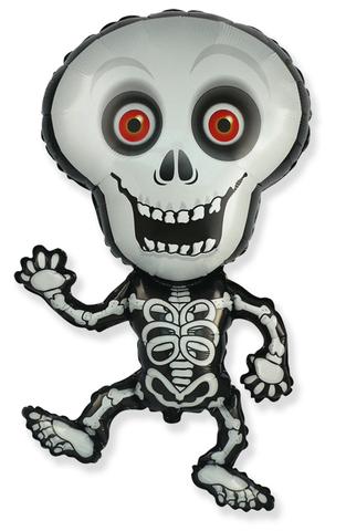 Фольгированный воздушный шар, Танцующий скелет, 102 см