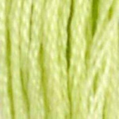 Нитки  мулине DMC хлопок  Светло-салатовый 15