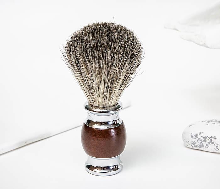 RAZ513 Помазок из натурального барсучего волоса фото 02