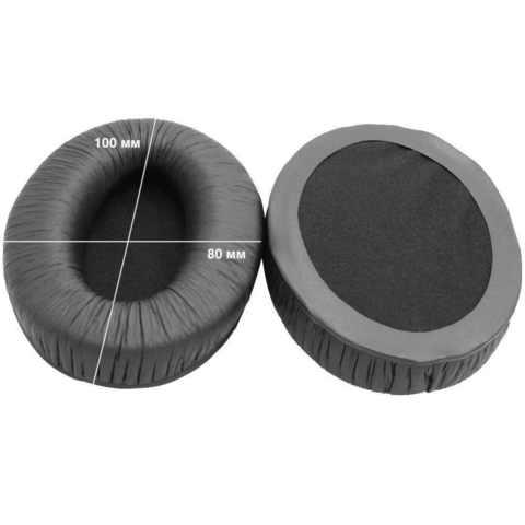 Овальные амбушюры для наушников 100x80 мм