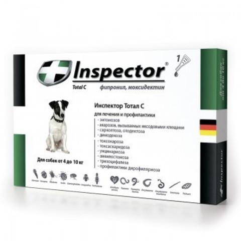 Инспектор для собак от 4кг до 10кг(1 пипетка)