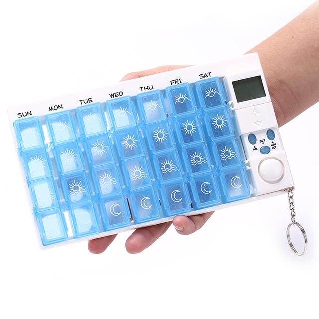 Для красоты и здоровья Контейнер для таблеток «НЕДЕЛЬКА» с таймером Pill reminder pillsbox.jpg