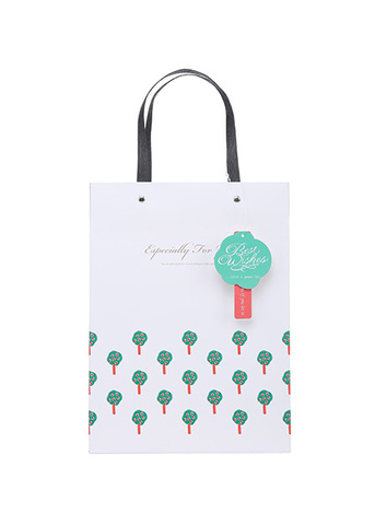 Long Apple Tree Gift Bag Medium Size(White)