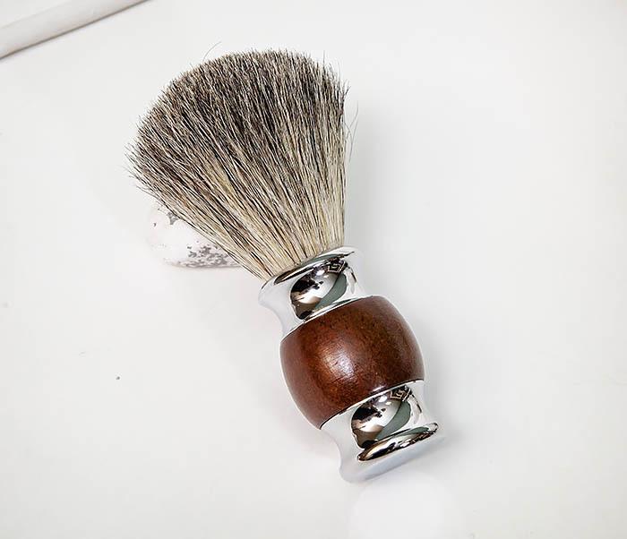 RAZ513 Помазок из натурального барсучего волоса фото 04