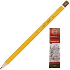 Карандаш чернографитный Koh-I-Noor 1500 3H заточенный