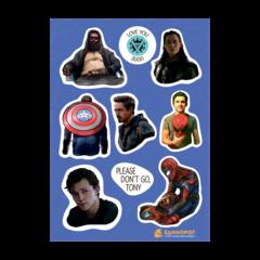 Набор стикеров Marvel #4