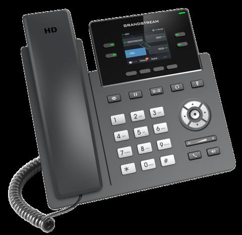 Grandstream GRP2612W - IP телефон с поддержкой Wi-FI. 2 SIP аккаунта, 4 линии, цветной LCD, PoE, 16 virtualBLF, Wi-Fi