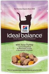 Пауч для кошек Hill's Ideal Balance Feline Adult, с индейкой
