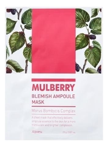 APIEU Маска на тканевой основе A'PIEU Mulberry Blemish Ampoule Mask