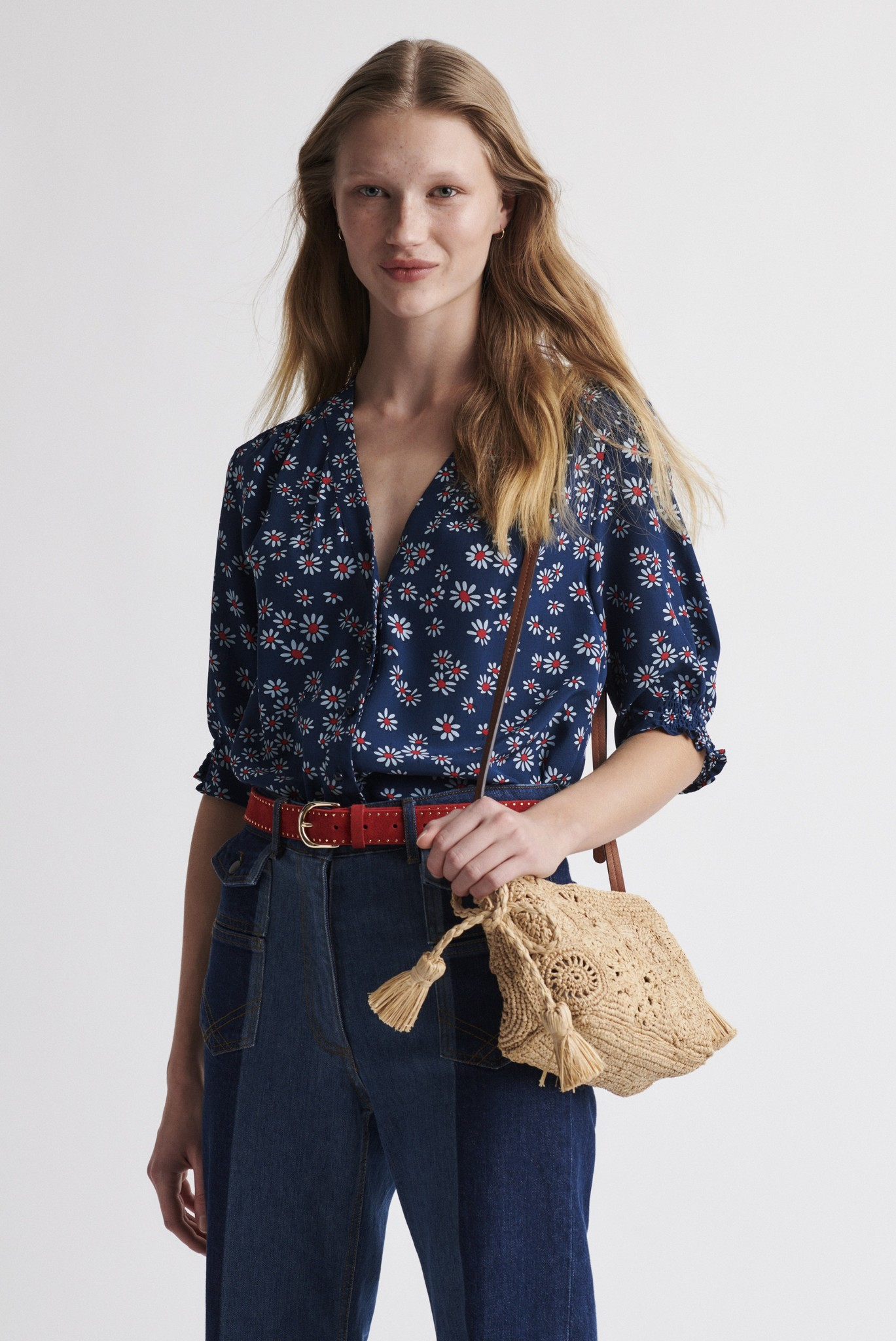NOVELLA - блузка из шелка с принтом