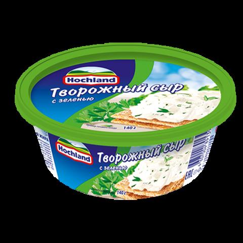"""Сыр творожный """"Hochland"""" с зеленью 140 г"""