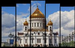 """Модульная картина """"Храм Христа Спасителя"""""""