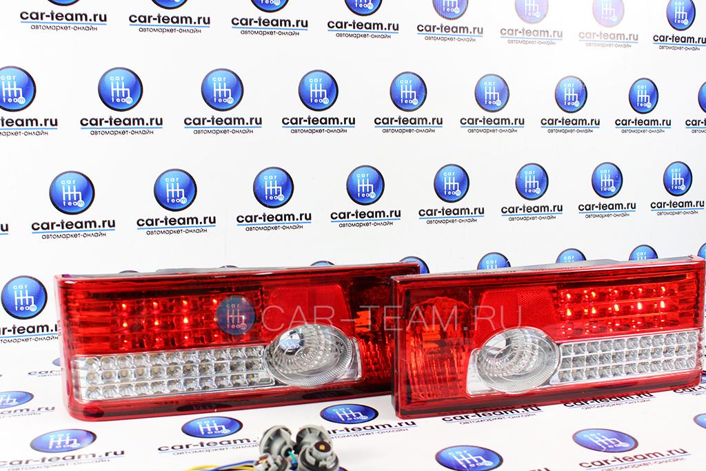 Задние диодные фонари на ВАЗ 2108-09, ВАЗ 2113-14 с плавающими поворотниками, красные