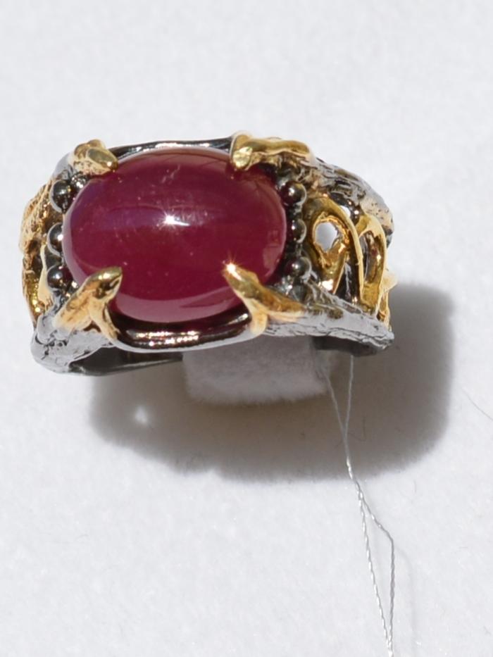Ретба (серебряное кольцо с позолотой)