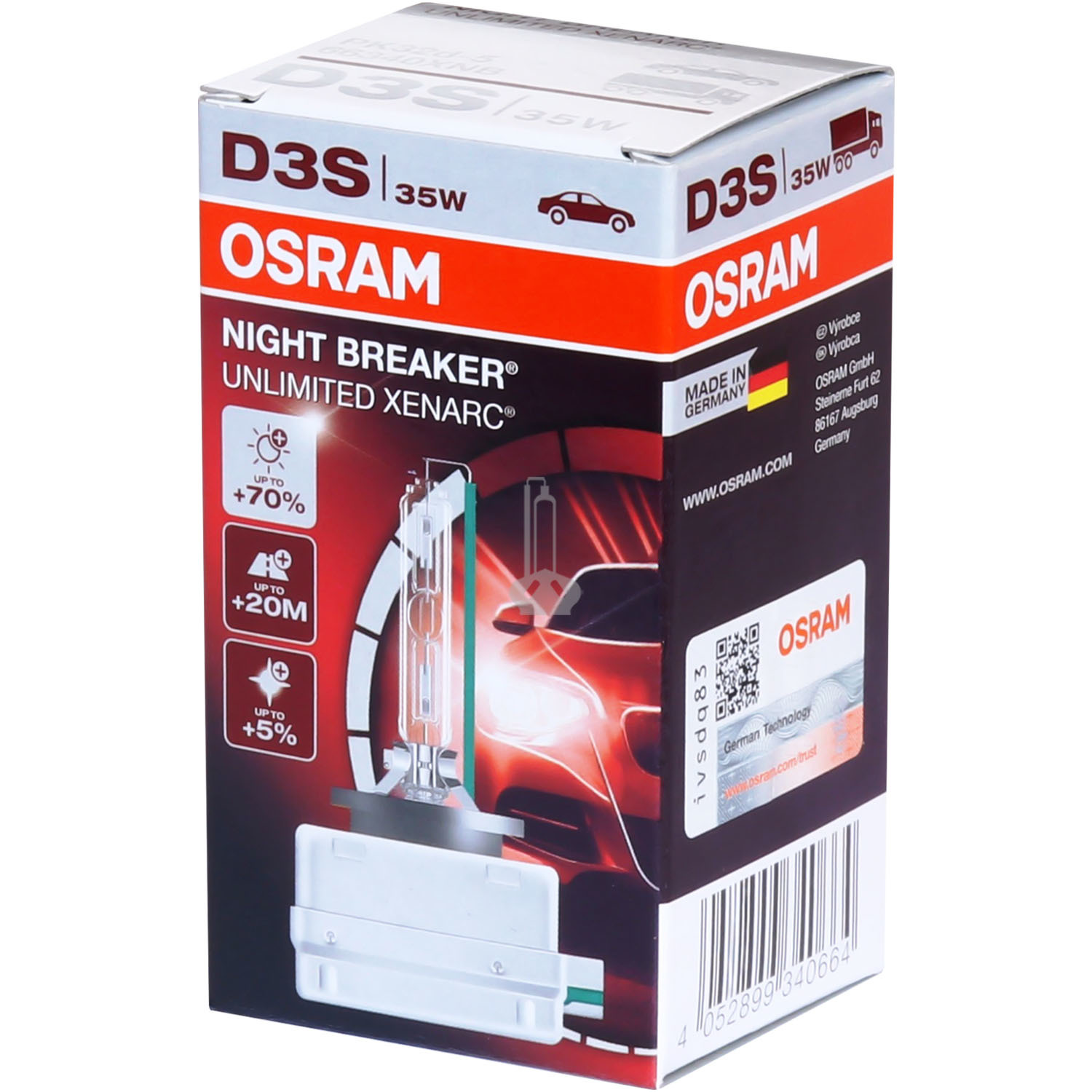Ксеноновая лампа OSRAM D3S Xenarc NIGHT BREAKER UNLIMITED