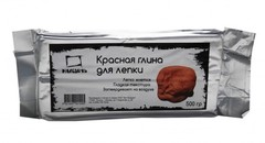 Глина для лепки Малевичъ, красная, 500 гр.