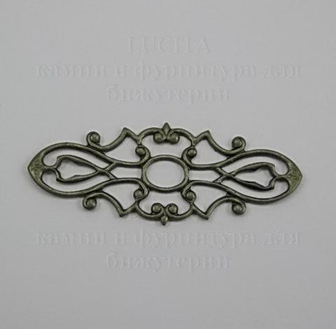 Филигрань 38х15 мм (цвет - античная бронза) ()