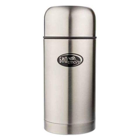Термос для еды Biostal (1 литр) в чехле, стальной