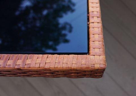 Стол плетеный раздвижной Миконос, цвет - тик